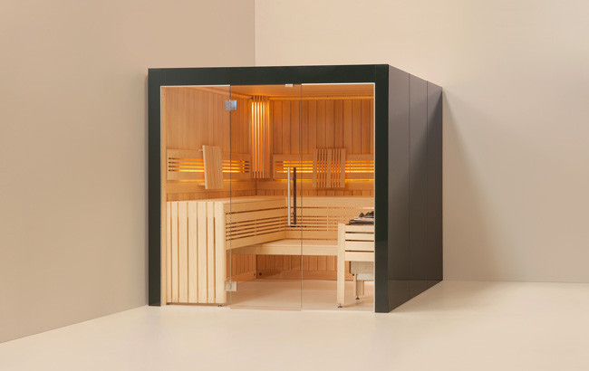 wellness f r zuhause sauna. Black Bedroom Furniture Sets. Home Design Ideas
